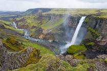 Island, Suedisland, Wasserfall Haifoss, 122m hoch, Schlucht, Landschaft, Natur, WerbungPR, 7/2014